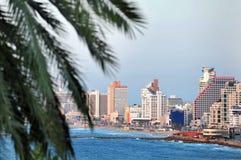 Tel Aviv kustlinje Arkivbild