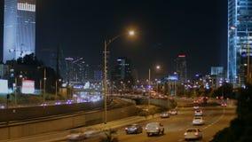 Tel Aviv la nuit banque de vidéos