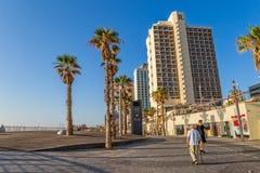Tel Aviv la Riviera et hôtels Photographie stock libre de droits