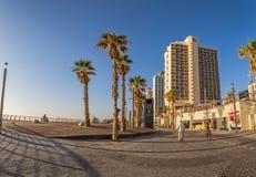 Tel Aviv la Riviera et hôtels Images stock