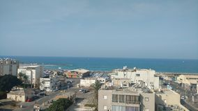 Tel Aviv - landscape at the north port. Fantasric view at the coast of north tel aviv Royalty Free Stock Photography