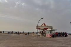 Tel Aviv - 20 2017 Luty: Tel Aviv port w czasie Pu Fotografia Royalty Free