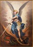 Tel Aviv - målarfärgen av ärkeängeln Michael från den St Peters kyrkan i gamla Jaffa Royaltyfria Foton