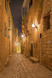 Tel Aviv - Mała nawa stary Jaffa przy nocą obraz royalty free