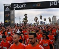 Tel Aviv marathon Royalty Free Stock Image
