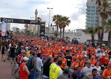 Tel Aviv marathon Stock Photo