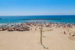 Tel Aviv Metzitzim plaża Zdjęcie Stock