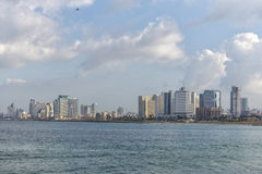 Tel Aviv nella stagione invernale Fotografia Stock Libera da Diritti