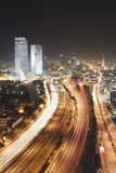 Tel Aviv at Night Stock Image