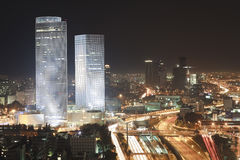 Tel Aviv at Night Stock Photos