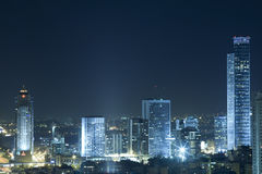 Tel Aviv at Night Royalty Free Stock Photos