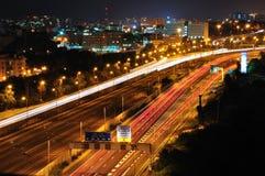 Tel-Aviv by night. Stock Photo