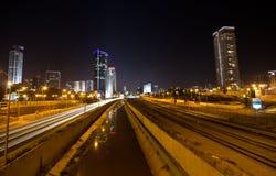 Tel Aviv by night royalty free stock photography