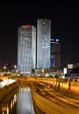 Tel Aviv by night stock photos