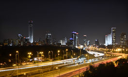 Tel Aviv by night Stock Photography