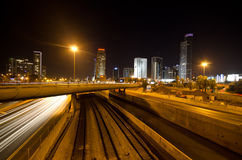 Tel Aviv by night stock photography