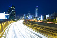 Tel Aviv at Night Stock Photo