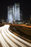 Tel Aviv night city Royalty Free Stock Images
