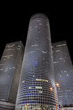 Tel aviv, the famous azriely towers at night Royalty Free Stock Photo