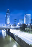 Tel Aviv at Night Royalty Free Stock Photography