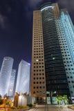 Tel Aviv at night Stock Image
