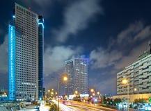 Tel Aviv at Night Royalty Free Stock Images