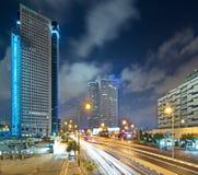 Tel Aviv at Night Royalty Free Stock Photos