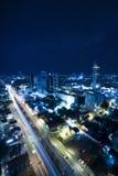 Tel Aviv at Night under the star Stock Photo