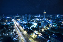 Tel Aviv at Night under the star Royalty Free Stock Photos