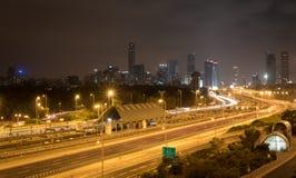 Tel Aviv at night Stock Images