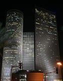 Tel Aviv nocturna Fotografía de archivo
