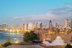 Tel Aviv Opinión de la noche de Jaffa imagenes de archivo