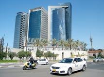 Tel Aviv os arranha-céus azuis 2011 Fotos de Stock Royalty Free