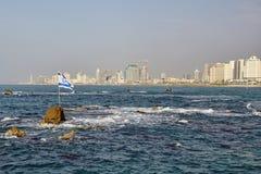Tel Aviv panorama Royaltyfria Bilder
