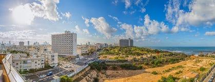 Tel Aviv panorama Royaltyfri Fotografi