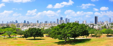 Tel Aviv Panorama, Israel. A panoramic view of Tel Aviv the largest city in Israel stock photo