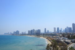 Tel Aviv Panorama from Old Jaffa Park Stock Images