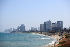 Tel Aviv Panorama with Skyscrapers, Israel Stock Photography