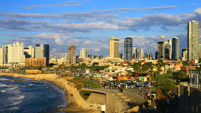Tel Aviv. Panoramic View of the Tel Aviv, Israel royalty free stock photography