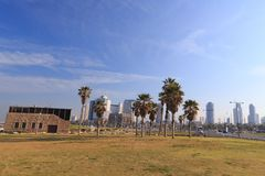 Tel Aviv. Panoramic view from Jaffa Stock Images