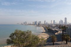 Tel Aviv. Panoramic view from Jaffa Stock Photos