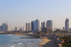Tel Aviv. Panoramic view from Jaffa Royalty Free Stock Image