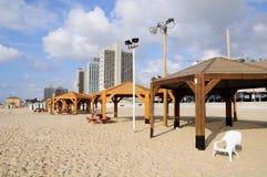 Tel Aviv plaża Zdjęcia Stock