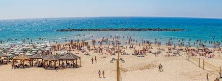 Tel Aviv plaża Fotografia Stock