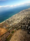Tel-Aviv from the plane. City view from the plane  Tel-Aviv / Israel Stock Photos
