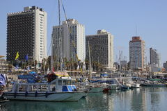 Tel Aviv port Royalty Free Stock Photos