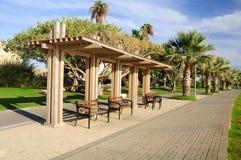 Tel Aviv port park. Stock Photos