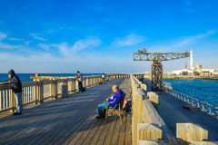 Tel Aviv portplats Arkivfoton