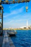 Tel Aviv portplats Arkivfoto