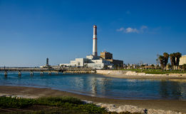 Tel Aviv Power Station Stock Image